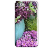 Pink and Green Garden iPhone Case/Skin