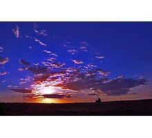Silo Sunset Photographic Print