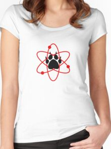 Carl Grimes Bear Paw and Atom (Red) T-Shirt - Comics Women's Fitted Scoop T-Shirt