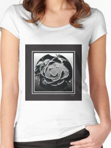 Monochrome bw Women's Fitted Scoop T-Shirt