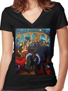 The Bullfight Women's Fitted V-Neck T-Shirt