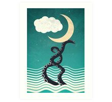 The octopus and the sea II (a lullaby) Art Print