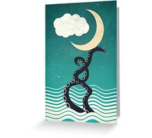 The octopus and the sea II (a lullaby) Greeting Card