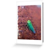 Green Alien Greeting Card