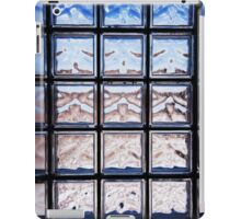 Blue toned glass brick window abstract  iPad Case/Skin