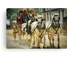 Stagecoach Ride Canvas Print