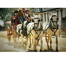 Stagecoach Ride Photographic Print