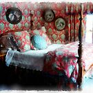 Romantic Bedroom Watercolor by Edward Fielding