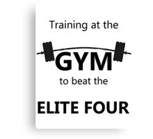 Elite Four Gym Shirt Canvas Print