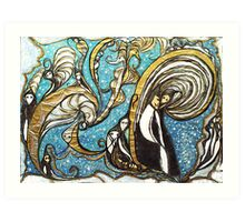 Whirling wizard Art Print