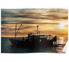 Fishing Queenscliff Poster
