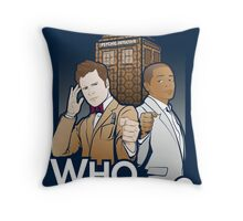 Who Dunnit? Psych Doctor Who Throw Pillow