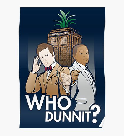 Who Dunnit? Psych Doctor Who Poster