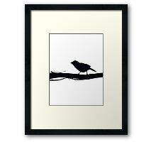 Bird is the word Framed Print