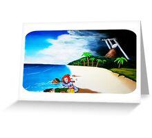 Link's Awakening Washed Ashore  Greeting Card