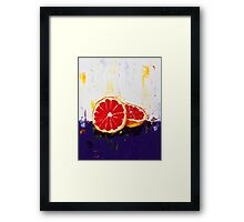 Where Has My Grapefruit Gone? Framed Print