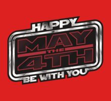 Happy May the 4th! (Slanted) Kids Clothes