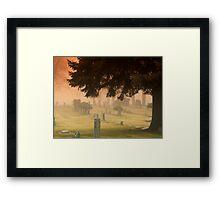 Graves and fog Framed Print