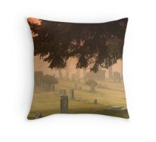 Graves and fog Throw Pillow
