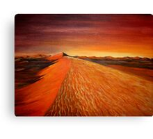 sand dune Sunrise Canvas Print