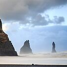 Coastal stacks on the South Iceland coast. by Sue Leonard