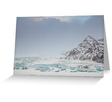 Icelandic Glacier and ice field Greeting Card