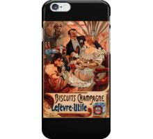 Biscuits Lefevre-Utile 2' by Alphonse Mucha (Reproduction). iPhone Case/Skin