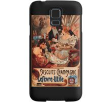 Biscuits Lefevre-Utile 2' by Alphonse Mucha (Reproduction). Samsung Galaxy Case/Skin