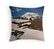Early Summer at Mount Rainier Throw Pillow