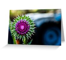 Thistle and Tractor Greeting Card