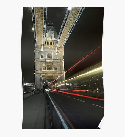 tower bridge bus Poster