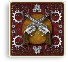 Clockwork Cowboy (Red) Canvas Print