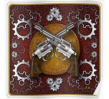 Clockwork Cowboy (Red) Poster