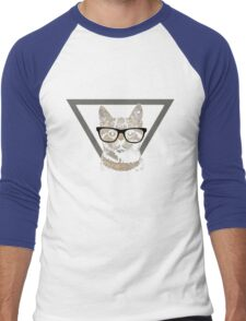 Hipster Cat is Hipster Men's Baseball ¾ T-Shirt