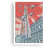 Drones leave the Shard nest in red by #fftw Canvas Print