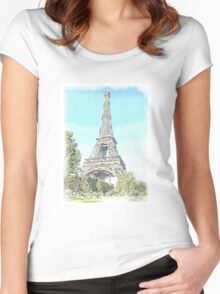 The Eiffel Tower, Paris Women's Fitted Scoop T-Shirt