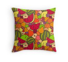 Juicy Fruits Throw Pillow