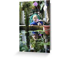 Boy, reflected Greeting Card