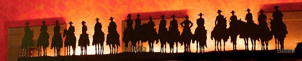 Cowboy Silhouettes. by Billlee