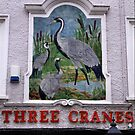Pub Sign The Three Cranes by Trevor Kersley