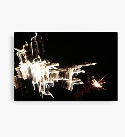 New Years Eve Fireworks Canvas Print