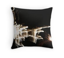 New Years Eve Fireworks Throw Pillow