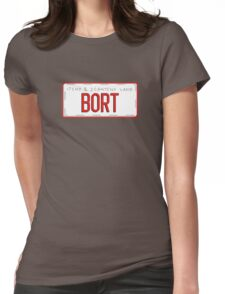Bort License Plate Womens Fitted T-Shirt