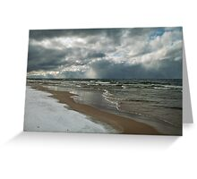 Winter Storm Over the Lake Greeting Card