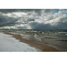 Winter Storm Over the Lake Photographic Print