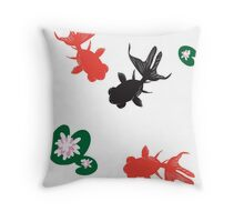 Goldfish Zen Throw Pillow