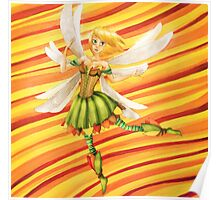 Dancing autumn fairy - By Wanderer Poster