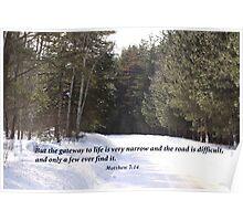 Matthew 7:14 Poster