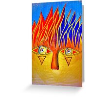 Staring Fury. Greeting Card