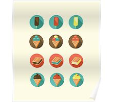 Ice-cream Icons Poster